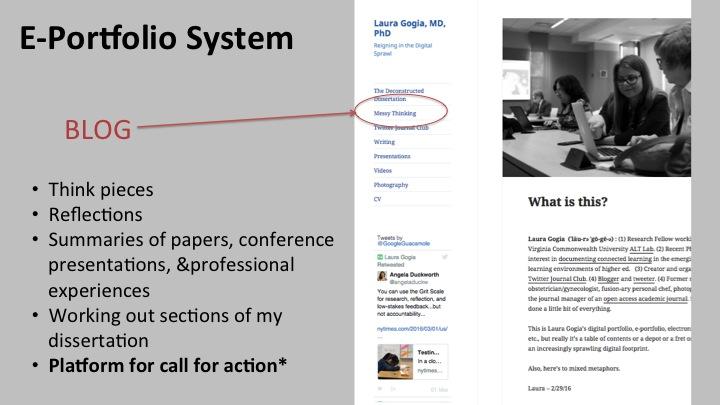 e-portfolio system